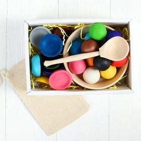 Сортер «Шарики на тарелочках» (Balls on a platter)