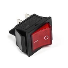Выключатель клавишный с подсветкой одинарный, красный Ош