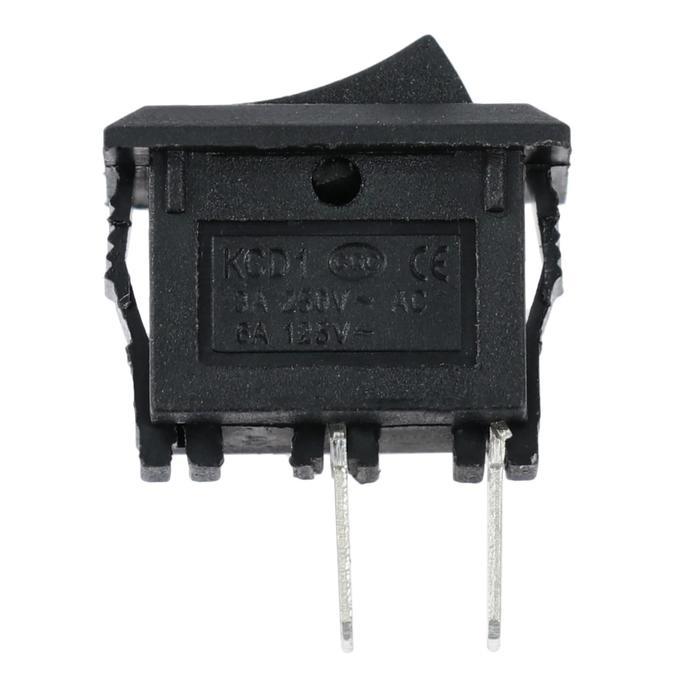 Выключатель клавишный без подсветки одинарный, черный