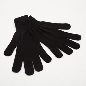Перчатки женские, цвет чёрный, размер 18