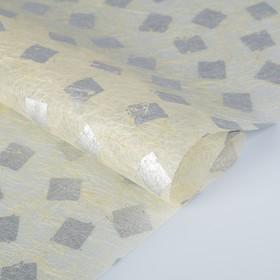 Бумага из абаки, Abaca Paper, «Печать серебряная», 0,64 х 0,94 м, 30 г/м2 Ош
