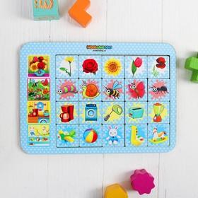 Игра настольная «Ассоциации: цветы, насекомые, игрушки» Ош