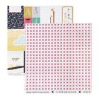 """Бумага для скрапбукинга """"Карточки """"В детском мире"""" 30,5х30,5 см, плотность 190гр/м2"""