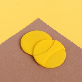 Спонж для нанесения косметики, d = 5,2 см, с держателем, цвет МИКС Ош
