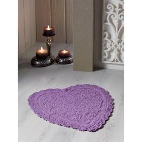 Коврик для ванной кружевной Sisley, размер 60х65 см, цвет светло-лавандовый