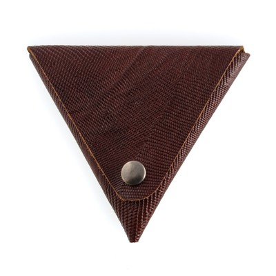 Футляр для монет, размер 8,5х8,5 см, н/к, коричневый игуана