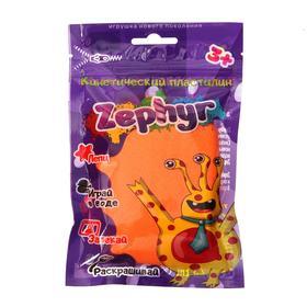 Кинетический пластилин «Zephyr» оранжевый 0,075 кг