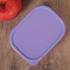 Набор контейнеров пищевых прямоугольных Доляна, 3 шт: 150 мл, 500 мл, 1,2 л, цвет сиреневый - Фото 4