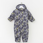 Весенний комбинезон для малышей, рост 68 см, цвет серый S28301