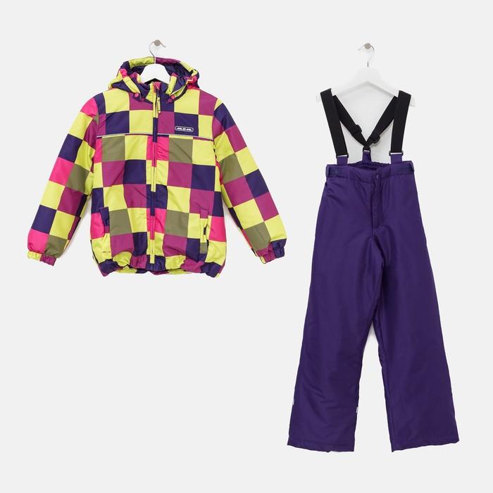Комплект (куртка и брюки), рост 92 см, цвет фиолетовый