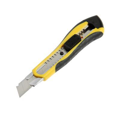 Нож универсальный TUNDRA black, 2К корпус, металлическая направляющая, 18 мм