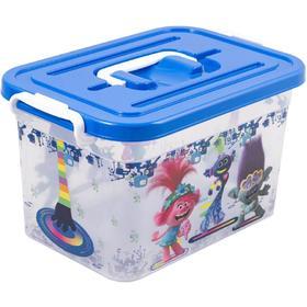 Контейнер для хранения игрушек с вкладышем Trolls, 6,5 л, МИКС