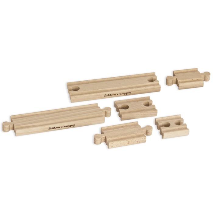 Игровой набор для дополнения деревянной железной дороги, малый