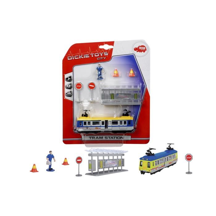 Игровой набор «Трамвайная остановка», 16 см