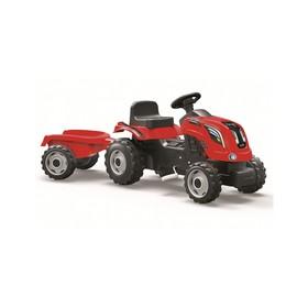 Трактор педальный Smoby с прицепом XL, красный Ош