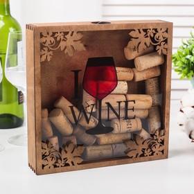 Копилка для пробок 'Я люблю вино' Ош