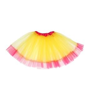 Карнавальная юбка «Кокетка», 2-х слойная, 4-6 лет, цвет жёлтый Ош
