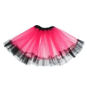 Карнавальная юбка «Кокетка», 2-х слойная, 4-6 лет, цвет розовый Ош
