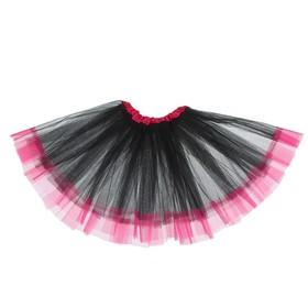 Карнавальная юбка «Кокетка», 2-х слойная, 4-6 лет, цвет чёрный Ош