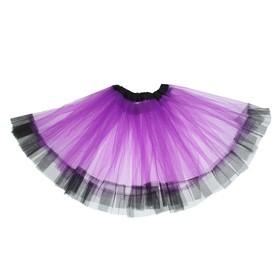 Карнавальная юбка «Кокетка», 2-х слойная, 4-6 лет, цвет фиолетовый Ош