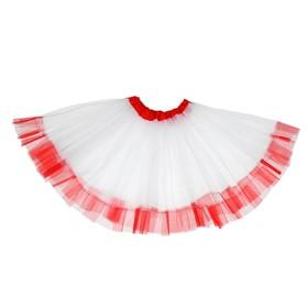 Карнавальная юбка «Кокетка», 2-х слойная, 4-6 лет, цвет белый Ош