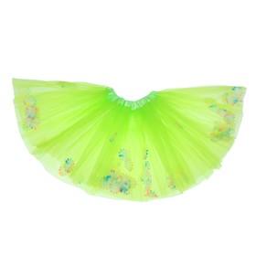 Карнавальная юбка «Цветочки», 3-х слойная, 4-6 лет, цвет зелёный Ош
