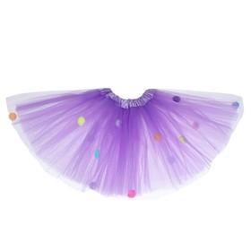 Карнавальная юбка «Помпушки», 3-х слойная, 4-6 лет, цвет фиолетовый Ош