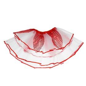 Карнавальная юбка «Цветочек», 2-х слойная, 4-6 лет, цвет красный Ош