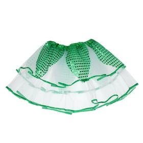 Карнавальная юбка «Цветочек», 2-х слойная 4-6 лет, цвет зелёный Ош