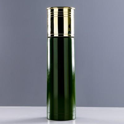 """Термос """"Патрон"""", 500 мл, сохраняет тепло 12 ч, зелёный, 6.5х25 см - Фото 1"""