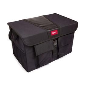 Органайзер с крышкой в багажник iSky, полиэстер, 51x31x31 см, черный