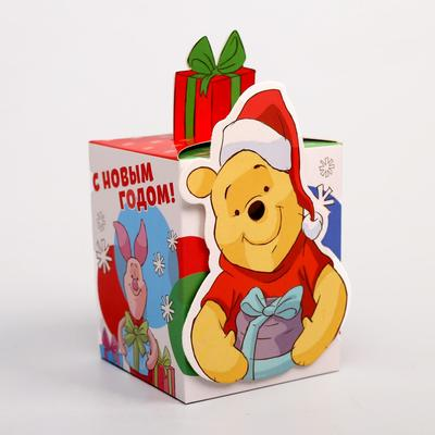 Подарочная коробка «С Новым Годом!», Медвежонок Винни, 8 х 10 х 8 см