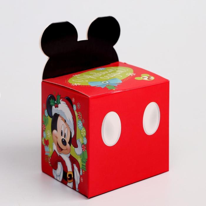 Подарочная коробка С Новым Годом, Микки Маус и его друзья, 8 х 8 х 8 см