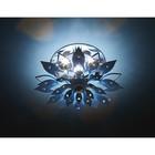 Светильник встраиваемый светодиодный, 3Вт, цвет голубой, d=50 мм