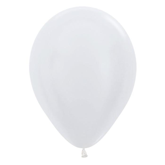 Шар латексный 5, перламутр, водяные бомбочки, набор 100 шт., цвет белый жемчужный 406P