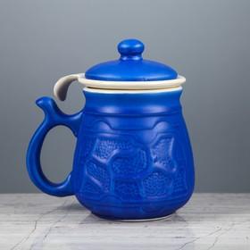 Кружка для заварки 'Комби', синяя, 0,35 л Ош