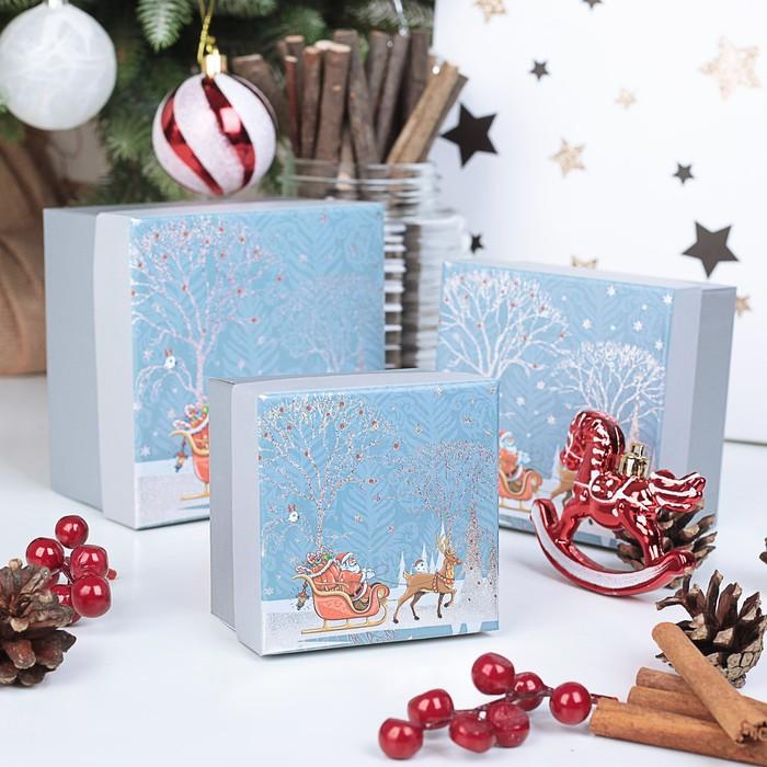 Набор коробок 3 в 1 Ворох подарков, 13 х 13 х 8 - 9 х 9 х 6 см