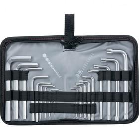 Набор ключей Matrix 12314, имбусовые, HEX-TORX, 18 шт, HEX 1,5–10 мм, T10-T50, CrV, короткие   38030