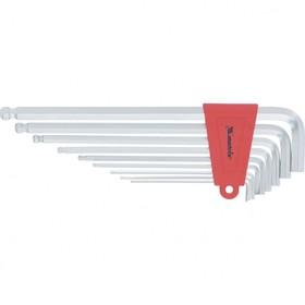 Набор ключей Matrix 16410, имбусовые, HEX, 1.5–10 мм, CrV, 9 шт., c шаром