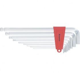 Набор ключей Matrix 16411, имбусовые, HEX, 2–12 мм, CrV, 9 шт., экстра-длин, c шаром