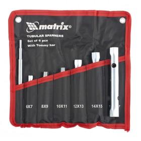 Набор ключей Matrix 13719, трубчатые, торцевые, 7 предметов