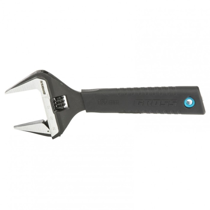 Ключ разводной Gross 15567, 150 мм,CrV, тонкие губки, защитные насадки