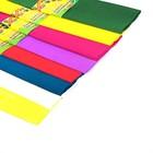 Набор бумаги крепированной, 10 штук, 8 цветов, 50 х 200 см, плотность-17 г/м, 10 рулонов в пакете, МИКС