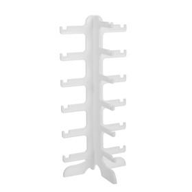 Подставка под очки 15.5*14*35,5 см, шесть ярусов, цвет белый Ош