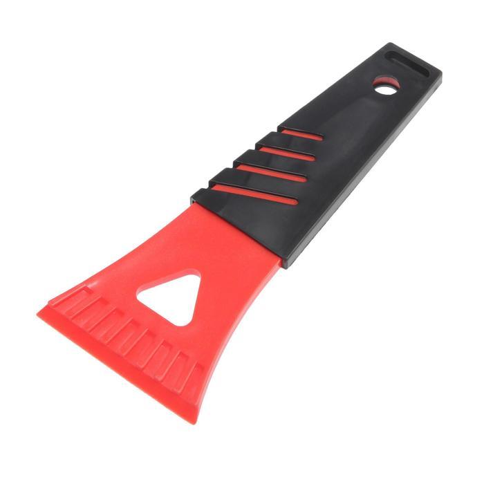 Скребок для льда TORSO, ширина 7 см, красно-черный