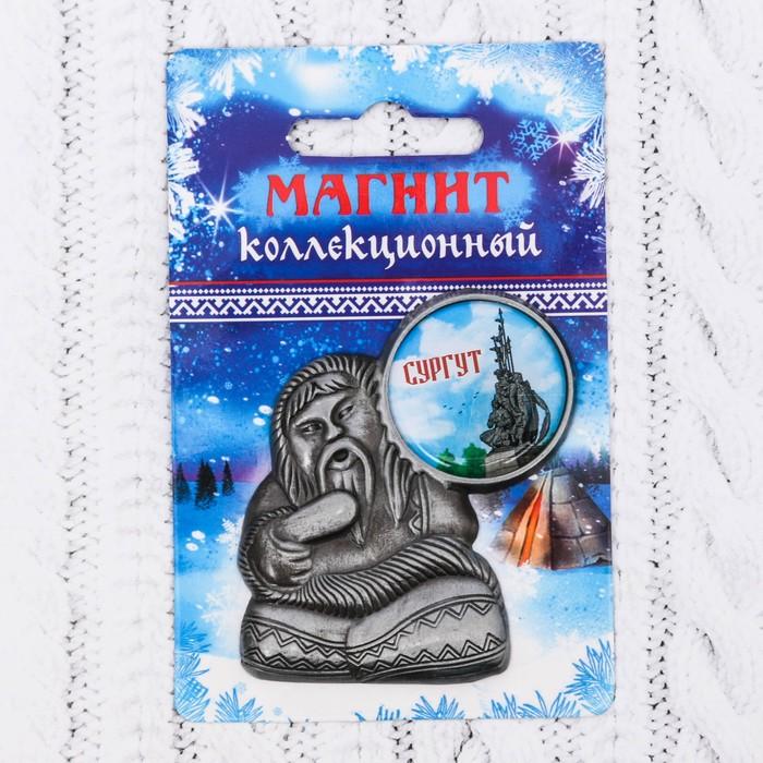 Магнит в форме шамана Сургут. Памятник основателям