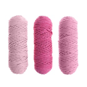 Шнур для вязания 3мм 100% хлопок, 50м/85гр, набор 3шт (Комплект 8)