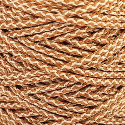 Шнур для вязания с сердечником 100% полиэфир, ширина 5 мм 100м/550гр (меланж св. песочн.)
