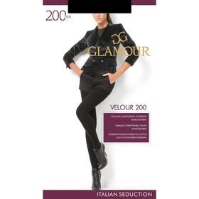 Колготки женские GLAMOUR Velour 200 цвет чёрный (nero), р-р 2