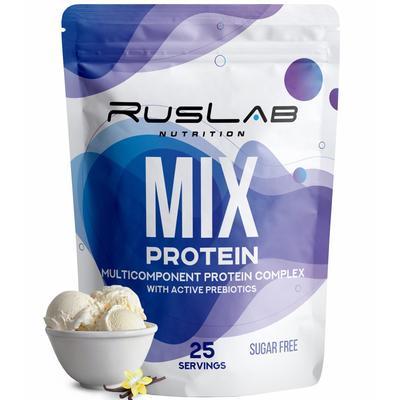 Протеин RusLabNutrition MIX Protein 70% Ванильное мороженое, 800 г - Фото 1
